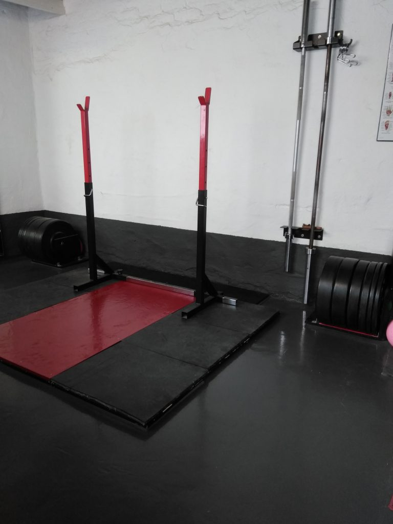 The Strength Lab platform and squat stand